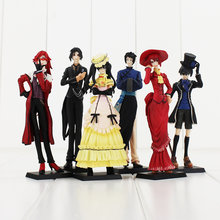 6pcs/lot Black Butler Figure Toy Sebastian Ciel Grell Sutcliff Lau Anime Model Toy for Children(China)