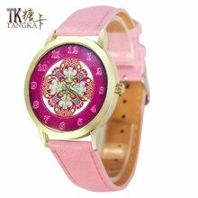 Ladies Fashion Quartz Watch Woman Minimalism Elegant rose red dial Leather Strap Casual Quartz-watches luxury dress watch