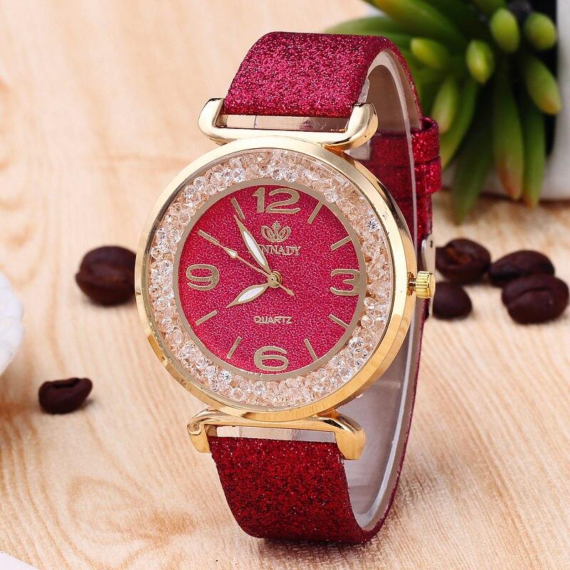 RINNADY Brand Crystal Ball Big Dial Fashion Watch Woman ...