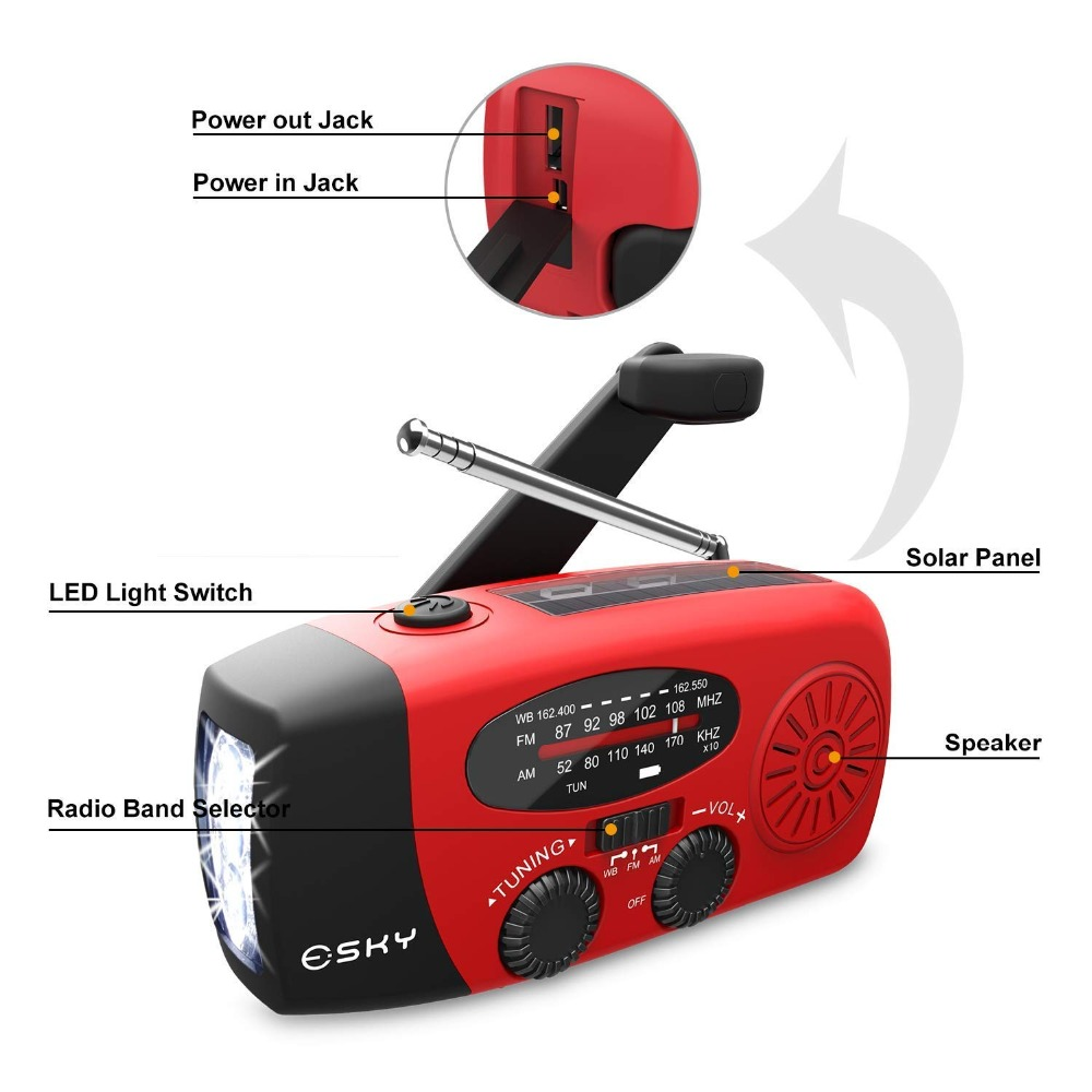 Am Fm Pocket Portable Radio Transistor With 5 Led Emergency Storm  Phone Charger
