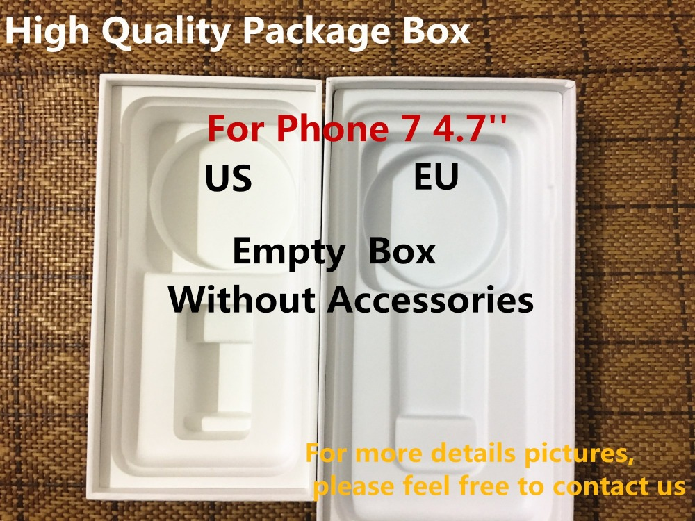 50pcs High Quality US EU Version Phone Packaging Packing Box Case For iPhone 7 4 7