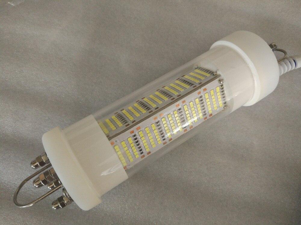 5 m Câble Dimmable 420 pcs SMD2835 140 w 12 v LED Sous-Marine Plongée Lampe De Pêche Lumières Dock lumière