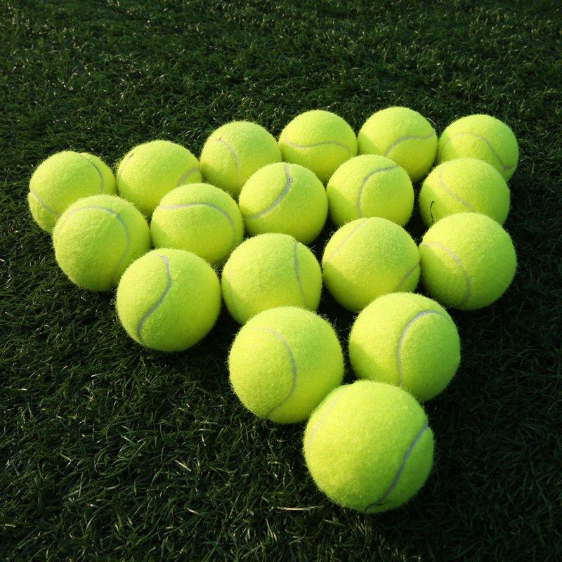 18pcs/set Tennis Balls With Net Outdoor Sports Tournament Fun Cricket Beach Dog High Quality Sport Training