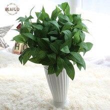 1 связка ткань 7 голов Bay листья искусственные растение компоновка для дома Свадебные Декоративные