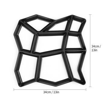 10 Formes Chemin Réutilisable Pavé Moules En Plastique Moule Pavage Moules Pierre Ciment Béton Moules Marche Moule Bordure Fabricant Pour Jardin