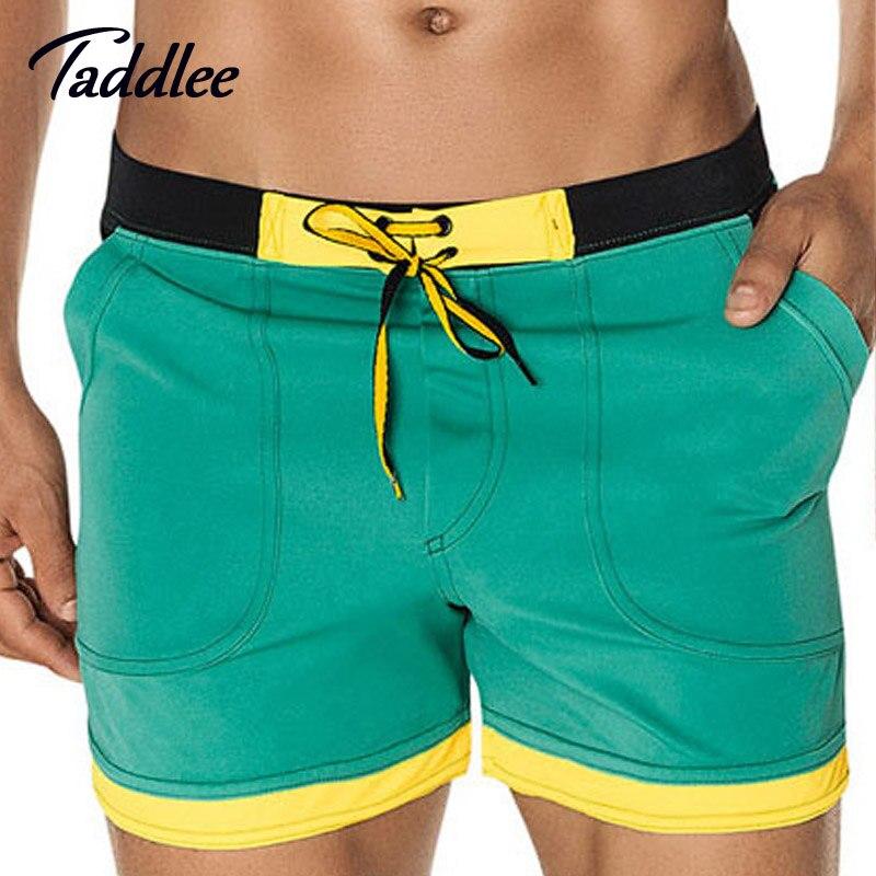 Taddlee marca mens hombre junta beach shorts trunks bañadores del traje de baño