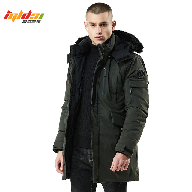 Best Price New 2018 Winter Jacket Men Down Parkas Fur Collar Long Coat Thick Cotton-Padded Jacket Parka Coat Male Fashion Casual Coats 3XL