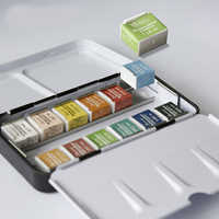 12/24/36/48 Colors Solid Watercolor Paints Set With Paintbrush Watercolor Pigment For Painting Art Supplies