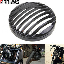 Motorcycle 5 75 5 3 4 Led Headlights Grill Cover CNC For Harley Sportster XL 883