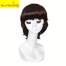3195Xi.Rocks Short Straight Synthetic Wigs With Bangs Dark Blonde Bob Wig Short For Black White Women Girl Heart Resistant Fiber недорго, оригинальная цена