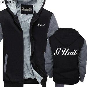 Image 4 - Winter dicke hoodies Neue G Einheit 50 Cent Rap Hip Hop Logo männer Schwarz hoodie S 5XL Premium Herren winter jacke mantel sbz1465