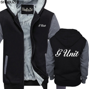 Image 4 - winter thick hoodies New G Unit 50 Cent Rap Hip Hop Logo Mens Black hoodie S 5XL Premium Mens winter jacket coat sbz1465