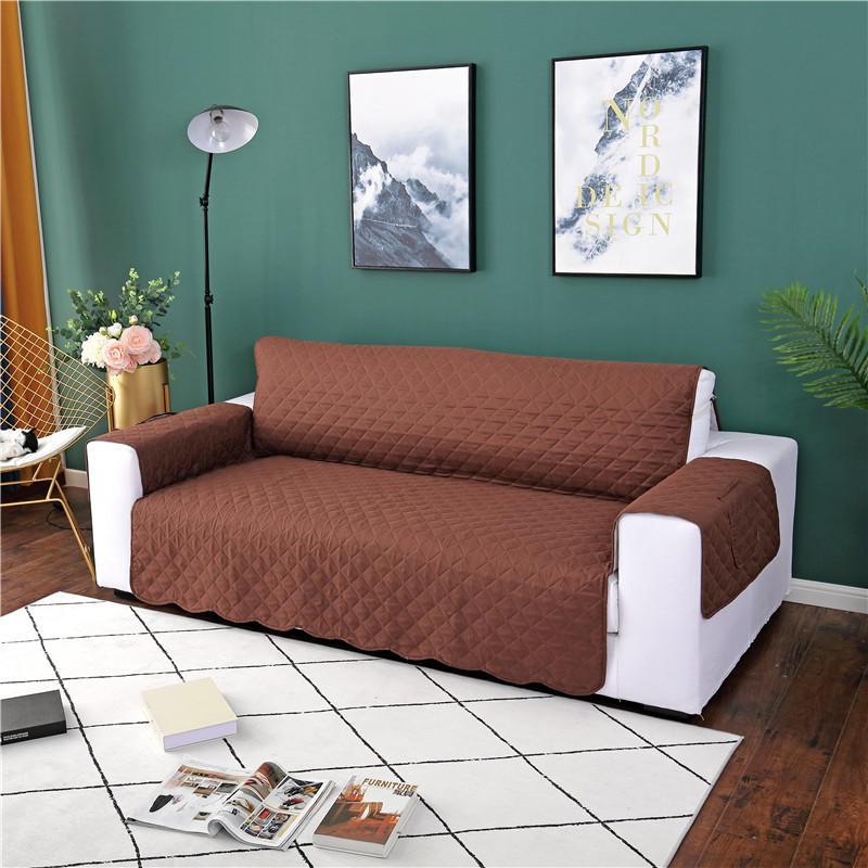 Wave Design Sofa Cover With Pocket Removable Pet Dog Kids Mat Couch Cover Sofa Slipcovers Armchair Furniture Protector