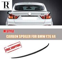 M نمط ل BMW F26 X4 الكربون الألياف المفسد 20i 28i 35i 20d 30d 35d 2014-2018 الذيل جذع التمهيد الشفاه الجناح