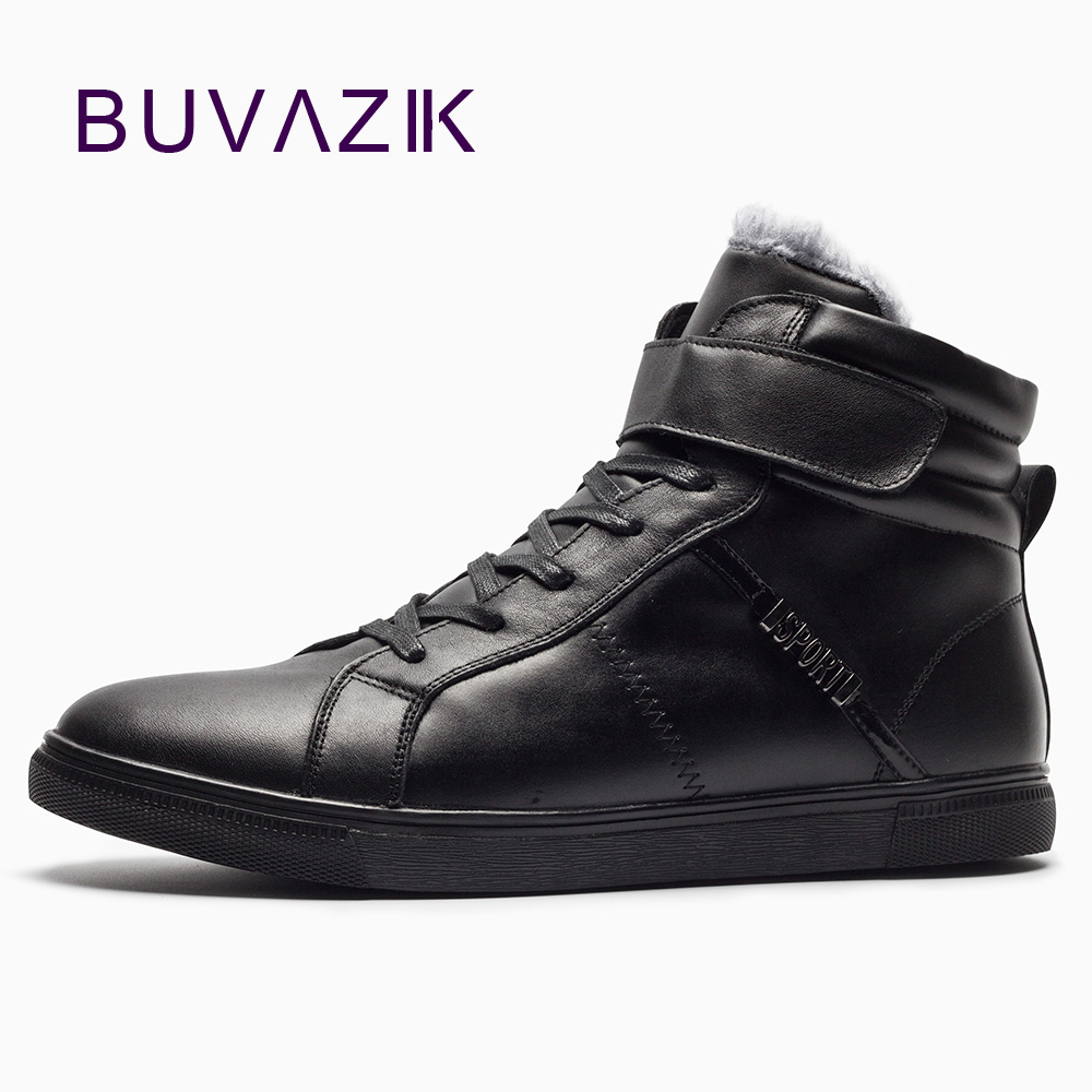 Big Size Men Leather Boots Winter Men Warm Boots 100% Real Leather Men Ankle Boots Plus Cashmere Genuine Leather Shoes serene handmade winter warm socks boots fashion british style leather retro tooling ankle men shoes size38 44 snow male footwear