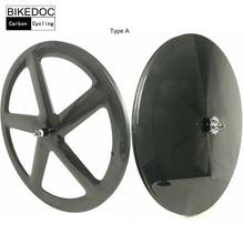 BIKEDOC 700c Track Bike Wheel Racing Road Carbon Wheels Toray 700 Fixed Gear Wheels