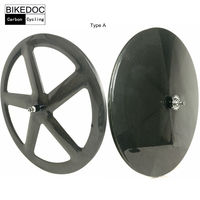 Bikedoc 700C следа колеса велосипеда road racing углерода Колёса Toray 700 фиксированной Шестерни Колёса