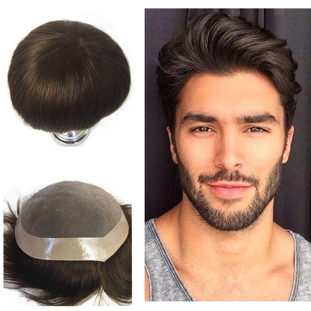 Details about Mono Lace Hair Topper Human