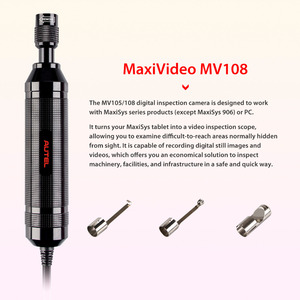 Image 2 - Autel MaxiVideo MV108 Digital Inspection Camera for MaxiSys Pro and PC support video inspection scope  Image Head 8.5mm MV 108