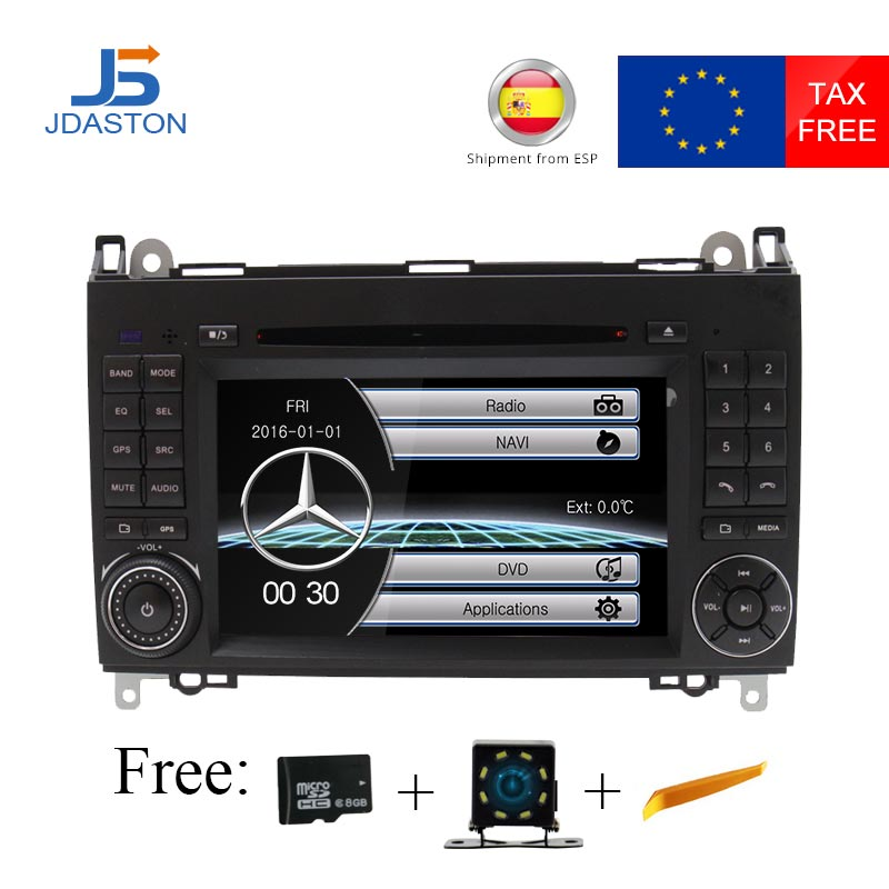 JDASTON 2 Din Auto Radio De Voiture DVD GPS unité de Tête pour Mercedes Benz B200 B Classe W169 W245 Viano Vito w639 Sprinter W906 Bluetooth