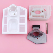 Carburetor Air Filter Adaptor Base Housing Set For Chinese 5200 5800 52cc 58cc Chainsaw Replace Spare Part 52cc 5200 chainsaw cylinder and piston set dia 45mm