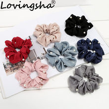 LOVINGSHA Girls Scrunchies Hair Accessories Cute Elastic Hair Band Hair Rope For Women Ponytail Hairtie Female NFD053(China)