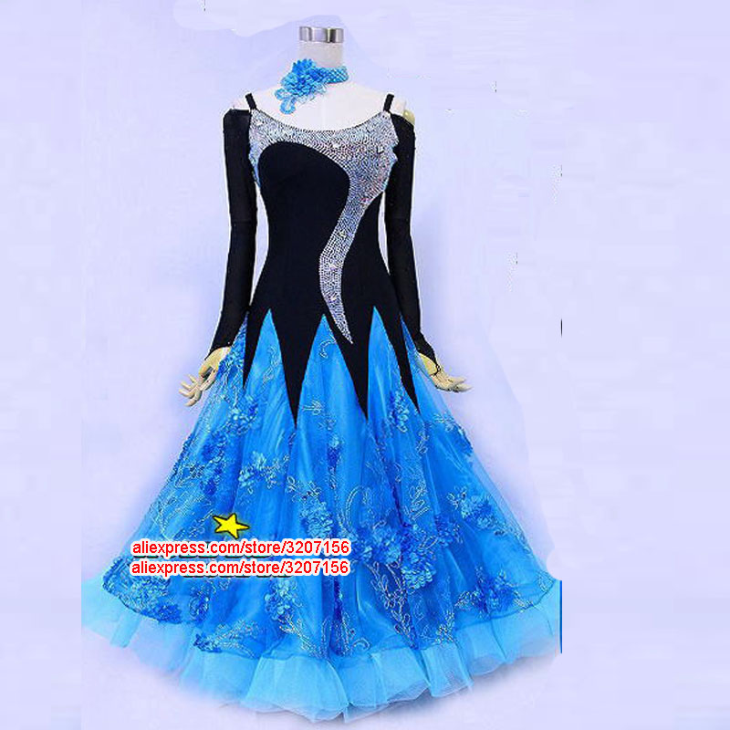 ballroom dance dress competition waltz dress tango dancing wear standard dance costume for lady grils fox trot dancewear