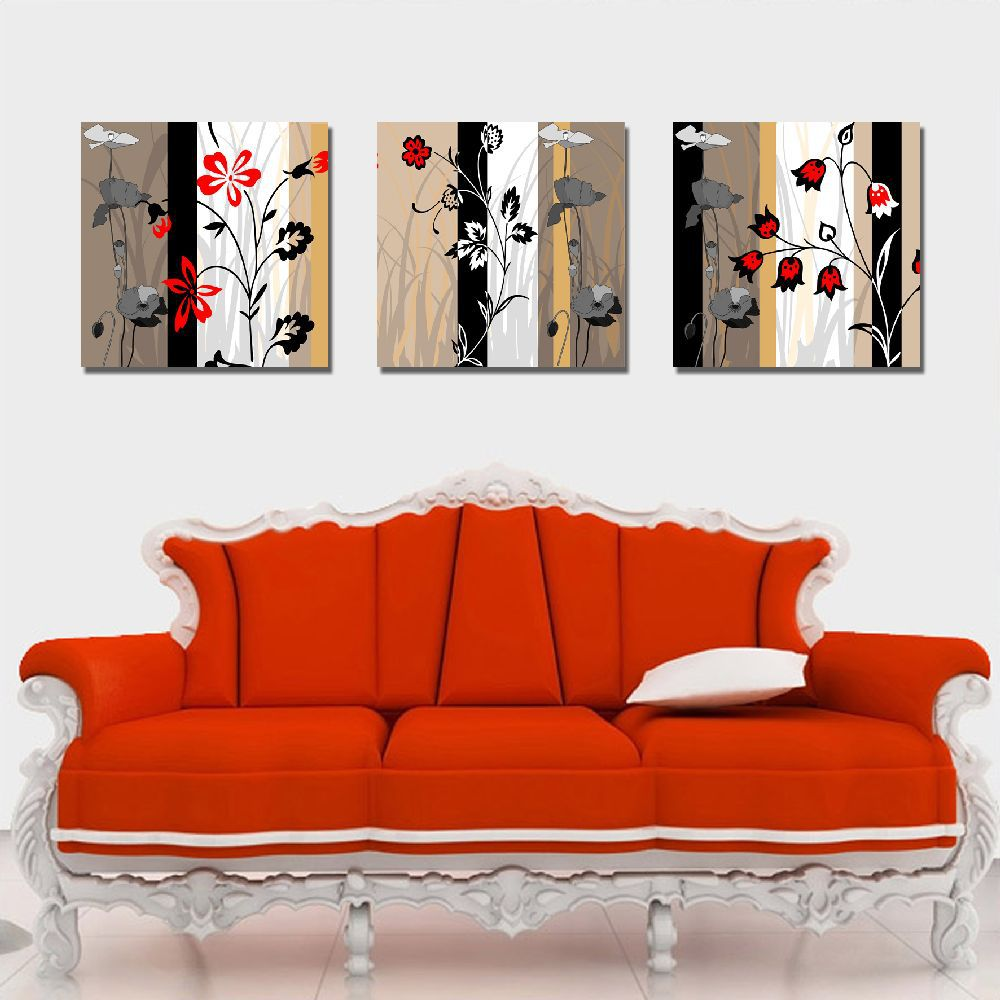 Living Room Canvas Paintings Aliexpresscom Buy Canvas Painting Simple Flowers Pictures On