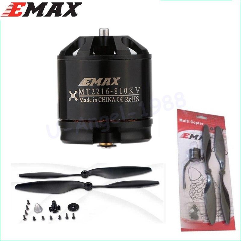 4 set/lot original Emax mt2216 810kv más sin escobillas rosca Motores 2 CW 2 CCW para multitorre quadcopter con hélice 1045