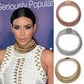 Nova disign de moda kim kardashian colar colar colar & pendant choker declaração colar maxi jóias choker atacado