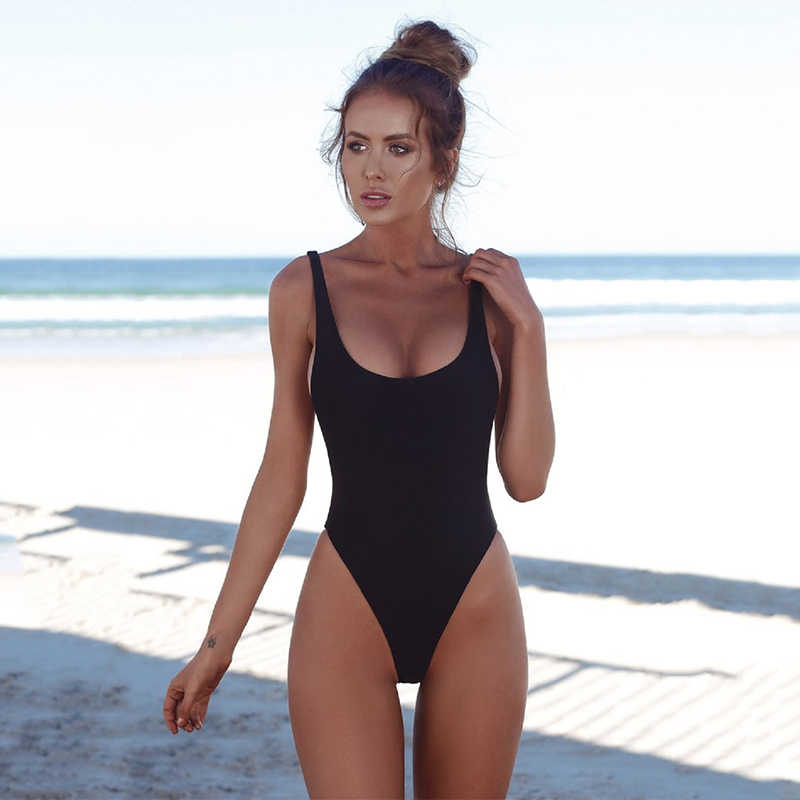 17137b875b ... Wade Sea One Piece Swimsuits Sexy 2018 Solid Swimwear Women Bathing  Suits Backless Female Monokini Summer ...