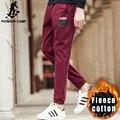 Pioneer Лагерь красное вино случайные бегунов мужчины бренд зима осень густой шерсти брюки моде брюки качество мужской штаны 699083