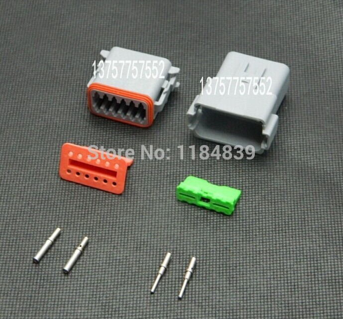 5 sets Kit 12 Pin way round pin  Waterproof Electrical Wire Connector Plug Deutsch Style Enhanced Seal Shrink Boot Adapter black 50 sets 4 pin dj3041y 1 6 11 21 deutsch connectors dt04 4p dt06 4s automobile waterproof wire electrical connector plug