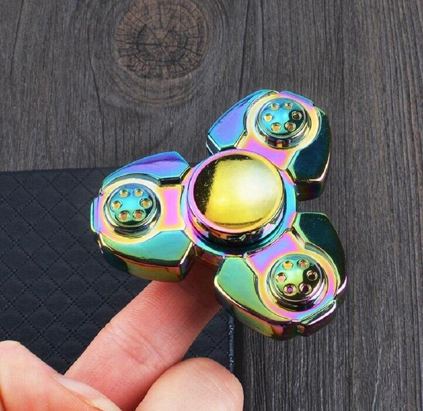 Ruso IRC Fidget Spinner Spinner Spinner Arco Iris Juguete Dedo EDC del Cojinete de Cerámica A Mano para El Autismo y EL TDAH Aliviar El Estrés Toy