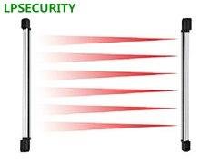 حاجز سياج يعمل بالأشعة تحت الحمراء ارتفاع LPSECURITY 10m 30m 60m 100m range53cm مستشعر 3 شعاع للنوافذ والأبواب والجدران إنذار gsm