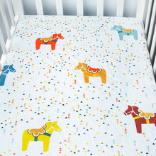 ФОТО Baby Crib Fitted Sheet 100 Cotton Infant Bed Mattress Cover Baby Bedding Set Cartoon Toddler Girls Boys Bedding Size 13070cm