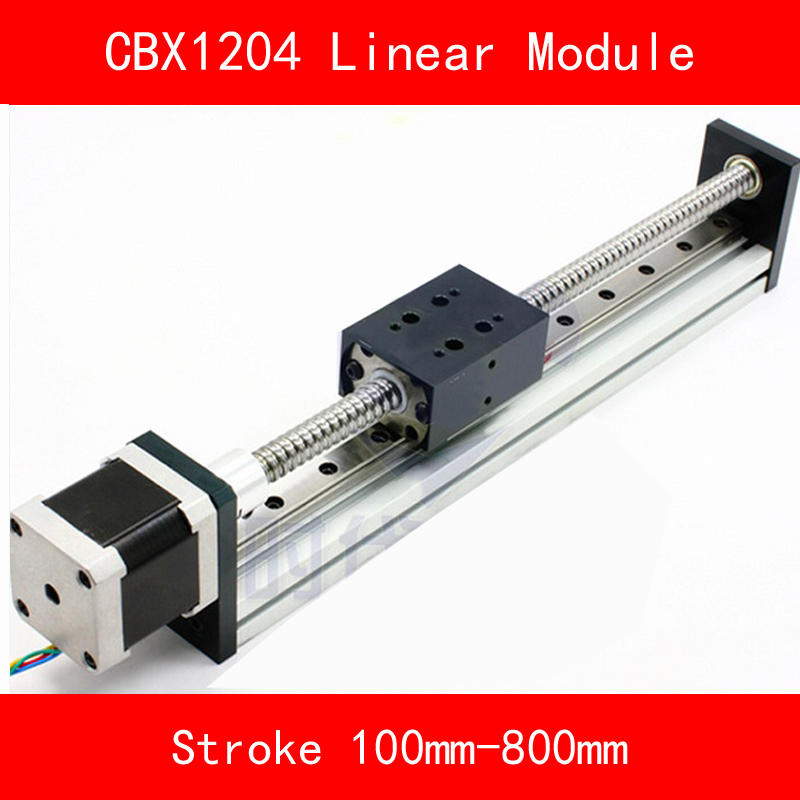 linear guide module Table with 57 stepper motor and ball screw sfu1204 Stroke 100-800mm for CNC 3d printer robotic arm kit anet 3d printer screw linear 2 phases stepper motor
