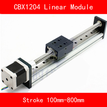 linear guide module Table with 57 stepper motor and ball screw sfu1204 Stroke 100-800mm for CNC 3d printer robotic arm kit free shipping dustproof 1 1m travel length cnc linear motion guide module with integrated stepper motor