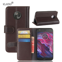 KLAIDO Genuine Cow Leather Case For Motorola Moto X4 5 5 Inch Card Holder Stand Back