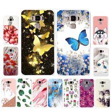 Ojeleye DIY Patterned Silicon Case For Asus Zenfone 3 Max ZC553KL Case Soft TPU Cartoon Phone Cover For ASUS X00DD Covers чехол для сотового телефона celly air case для asus zenfone 3 max zc553kl air649bkcp черный