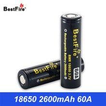18650 Battery Bestfire 3.7V Li-ion Battery Rechargeable Batteries 18650 2600mAh for Eleaf E Cigarette Vape Mod N005