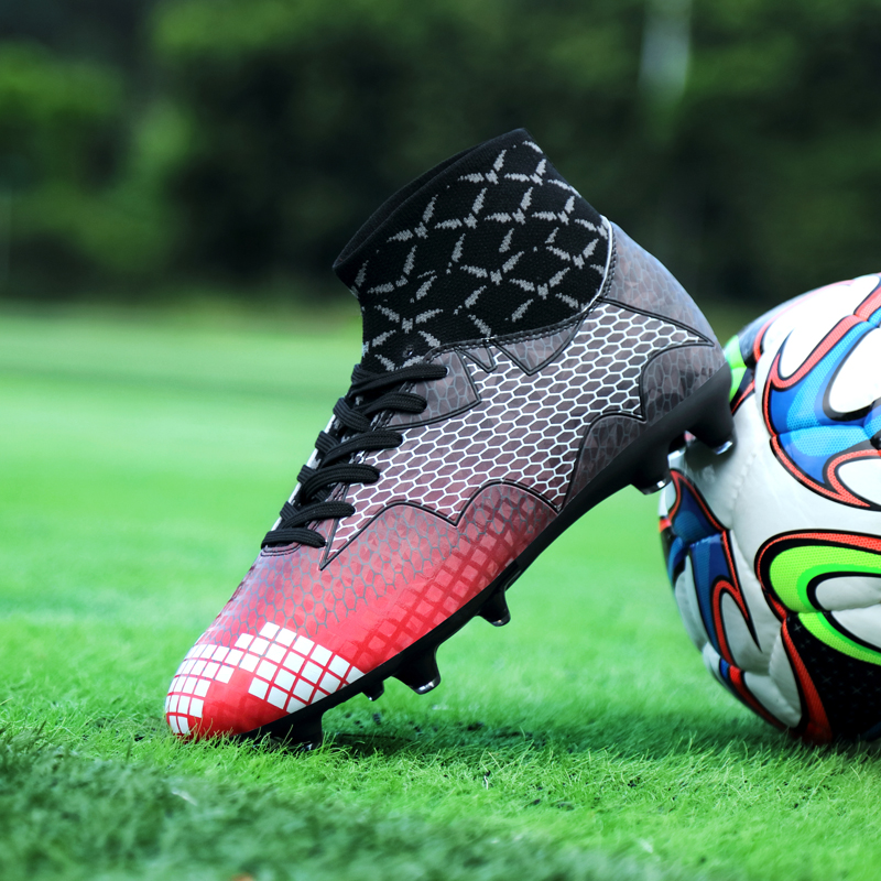 buy online da617 a47d3 US $27.54 5% OFF|New Coming Men Boys Soccer Shoes Training Hypervenom 2 Acc  Waterproof AG High Top Football Shoes Floodlights Pack Sneakers-in Soccer  ...