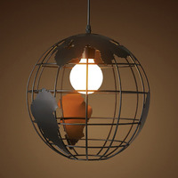 Creative Iron Creative Modern Globe Chandelier With 7w Warm Led Bulb 30cm/single Head Home Hotel Decoration