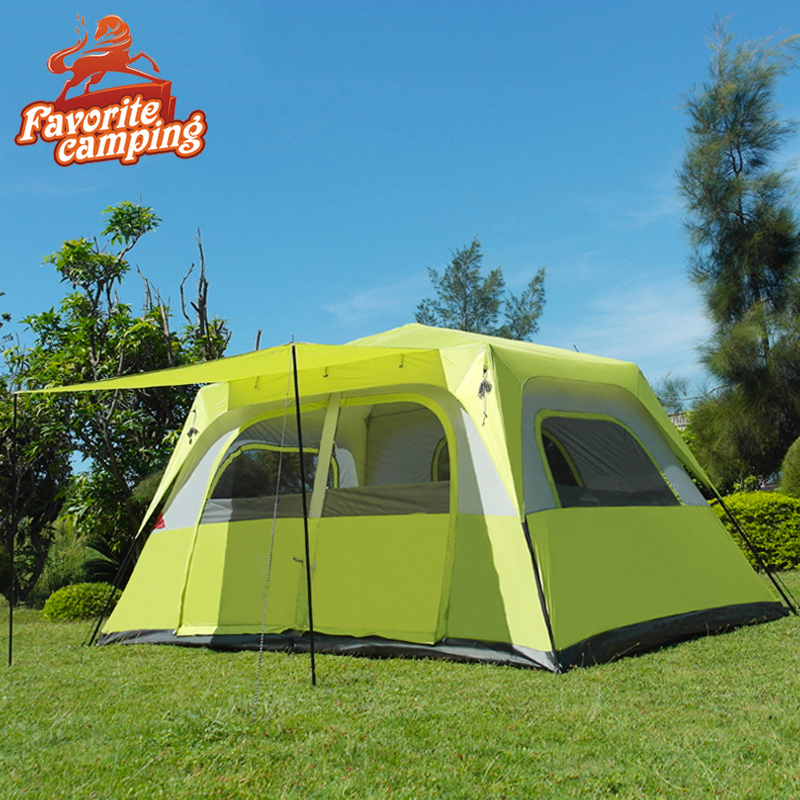 skazka Camping tents, Outdoor tents, Outdoor camping tent automatic bedrooms and can accommodate 5-8 people camping tent