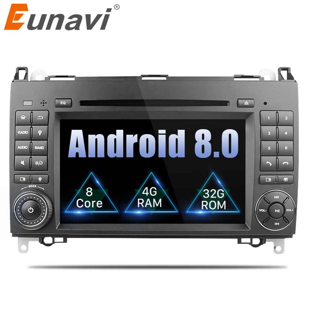 Eunavi 2 Din Android 8.0 Octa 8 core Lecteur DVD de Voiture Pour Benz Sprinter Vito W169 W245 W469 W639 B200 radio GPS WiFi 4g RAM 4 gb