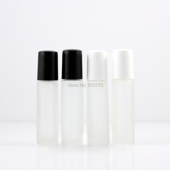 Oil Bottle Glass Roller Sample Vial Metal Black,white 10ml Frosted Clear Empty Essential Did Mini Small Roll In 8ml 8ml,10ml