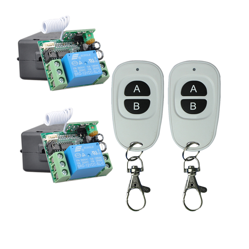 Smart Home DC12V Single channel rf wireless remote control switch 315mhz/433mhz learning code 433Mhz in stock 2PCS/LOT