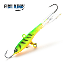 FISH KING 1PC Winter Ice Fishing Lure 8CM 15G Hard Artificial Bait Fishing for Bass Walleye Trout Panfish and Pike