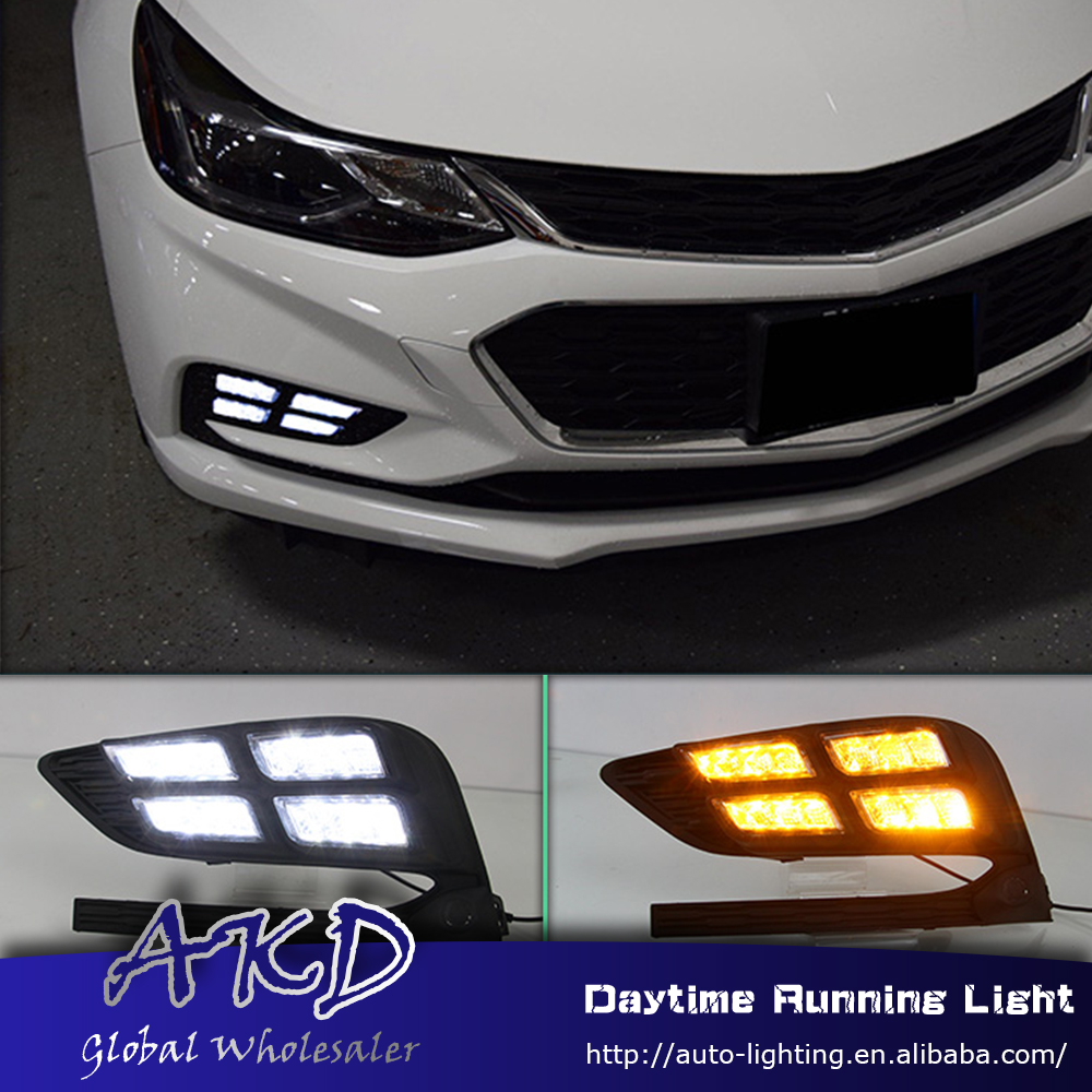 AKD Car Styling for Chevrolet Cruze 2016-2017 LED DRL for New Cruze Front Led Drl Running Light Fog Light Parking Accessories akd car styling for kia sportage r drl 2014 new sportager led drl korea design led running light fog light parking accessories