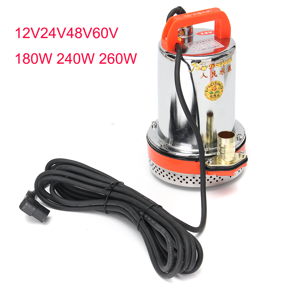 DC 48V 60V Deep Solar Powered Submersible Well Water Garden Farm Pump 13m Wire ship all samples within 2 10days solar powered submersible deep water well pump deep pump